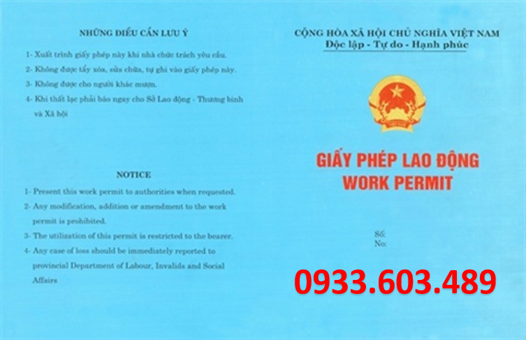 Ho so xin cap giay phep lao dong cho lao dong nuoc ngoai o Viet Nam