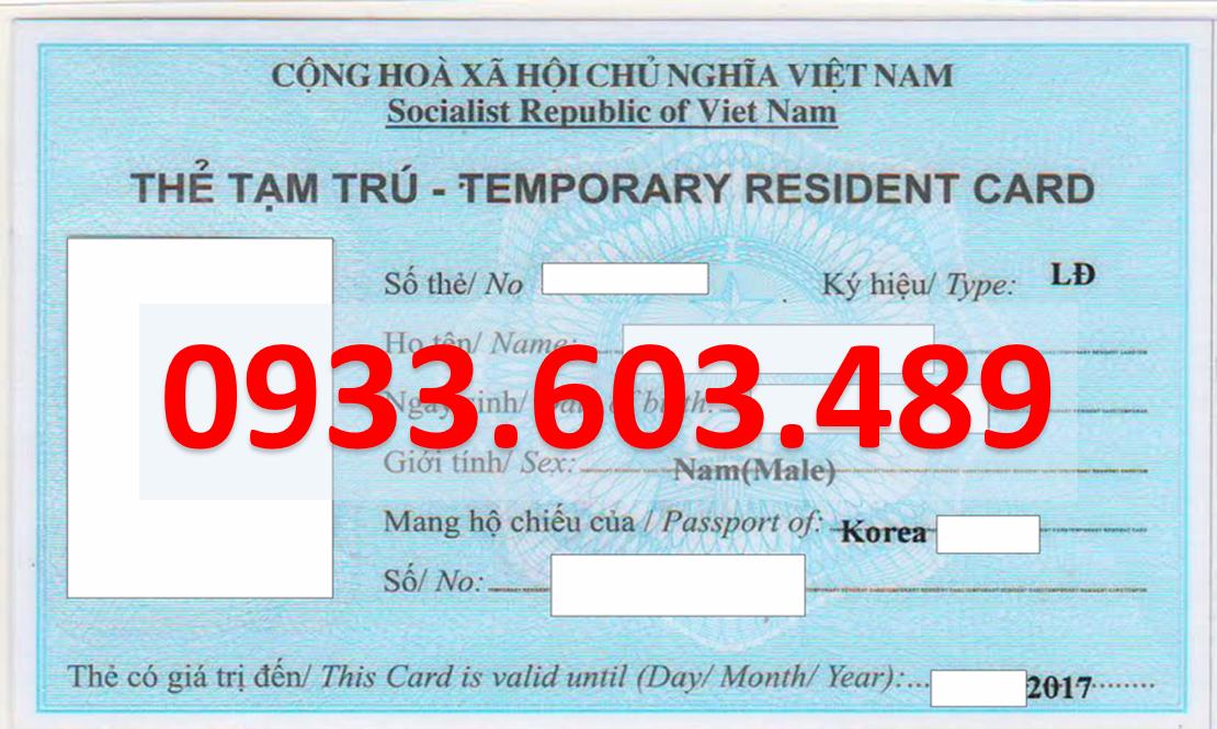 Huong dan quy trinh xin the tam tru cho nguoi nuoc ngoai moi nhat nam 2020